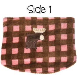Flapjacks flapjacks kids neck warmer pink moose/brown bear
