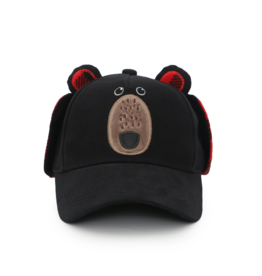 Flapjacks flapjacks 3D caps with earflaps black bear