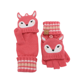Flapjacks flapjacks knitted fingerless gloves w/flap - deer