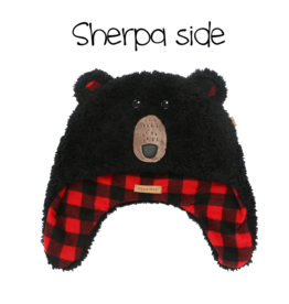Flapjacks flapjacks reversible sherpa hat black bear aviator