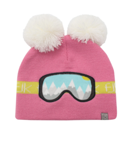 Flapjacks flapjacks knitted toque ski goggles pink