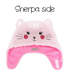 Flapjacks flapjacks reversible sherpa hat cat superhero