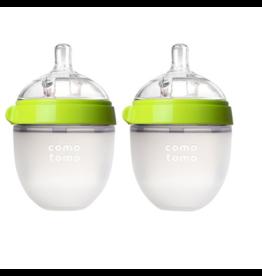 Comotomo comotomo natural feel bottle 2pk - green 5oz (150ml)
