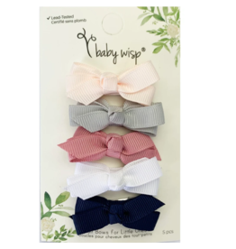 Baby Wisp baby wisp chelsea boutique bow small snap 5pk - baby hype