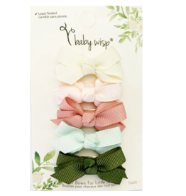 Baby Wisp baby wisp chelsea boutique bow small snap 5pk - bouquet