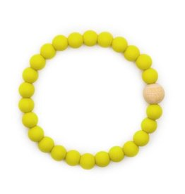 Bella Tunno bella tunno silicone teether bracelet for mom - murphy mustard