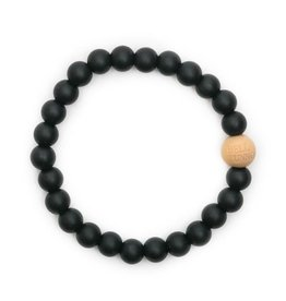 Bella Tunno bella tunno silicone teether bracelet for mom - blakely black
