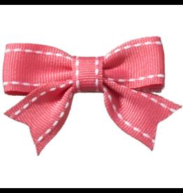 no slippy hair clippy abby top stitch bow - shocking pink