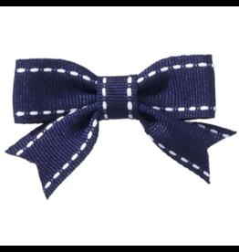 no slippy hair clippy abby top stitch bow - navy