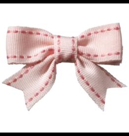 no slippy hair clippy abby top stitch bow - bubblegum