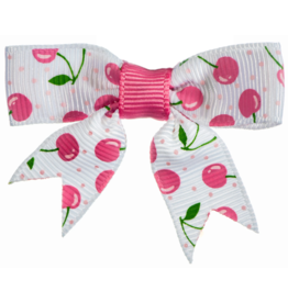 no slippy hair clippy baily bow - shocking pink cherries