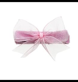 no slippy hair clippy audrey organza baby bow - pink