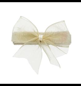 no slippy hair clippy audrey organza baby bow - cream