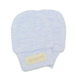 Juddlies juddlies newborn scratch mitts blue fleck
