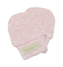 Juddlies juddlies newborn scratch mitts pink fleck