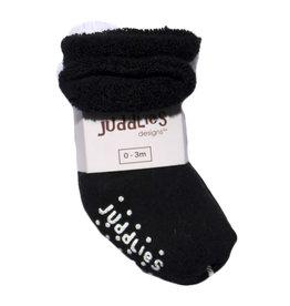 Juddlies juddlies newborn socks 2pk - black/white