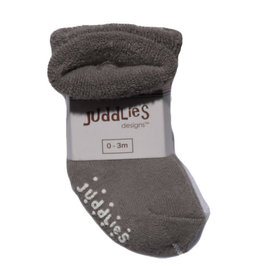 Juddlies juddlies newborn socks 2pk - grey/white