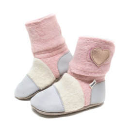 Nooks Design nooks design felted wool booties- snowberry