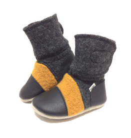 Nooks Design nooks design felted wool booties - harvest