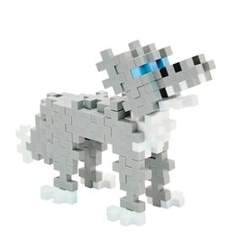 Plus Plus plus plus mini maker tube - grey wolf