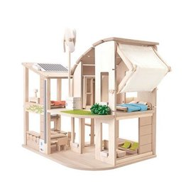 Plan Toys plan toys green dollhouse with furniture