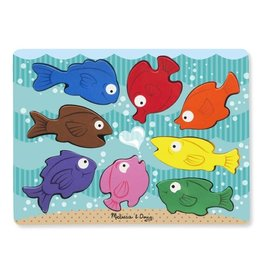 Melissa & Doug melissa & doug wooden chunky puzzle - colourful fish