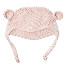 beba bean crochet bear toque in pink