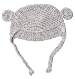beba bean crochet bear toque in grey