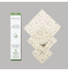 Abeego abeego beeswax food wrap - variety 3pk