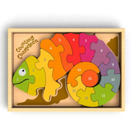 Begin Again begin again counting chameleon wooden puzzle