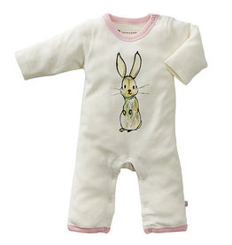 Babysoy babysoy jane goodall animal one-piece - pink rabbit