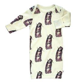 Babysoy babysoy jane goodall pattern sleep gown - marmot