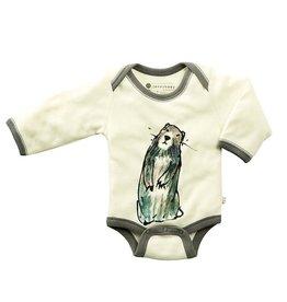 Babysoy babysoy janey goodall animal bodysuit - marmot