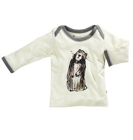 Babysoy babysoy janey goodall animal lounge tee - marmot