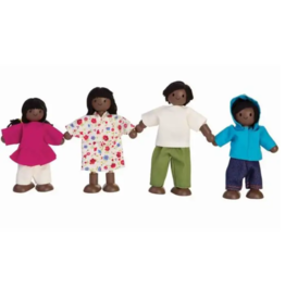 Plan Toys plan toys doll family - african american family