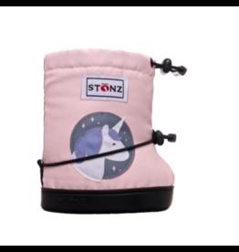 stonz all-weather booties - haze pink unicorn