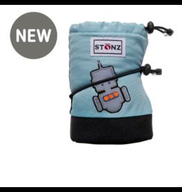 stonz all-weather booties - haze blue robot
