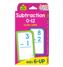 School Zone school zone subtraction flash cards ages 6 & up