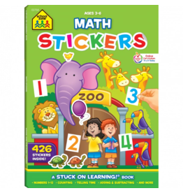 School Zone school zone math sticker book ages 4-6