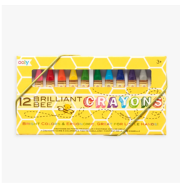 Ooly ooly brilliant bee crayons - set of 12