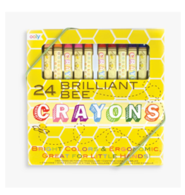 Ooly ooly brilliant bee crayons - set of 24