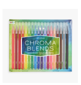 Ooly ooly chroma blends watercolor brush markers - set of 18