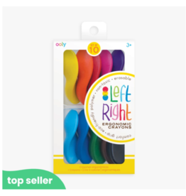 Ooly ooly left right crayons - set of 10