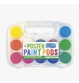 Ooly ooly lil paint pods poster paint - set of 12 with brush
