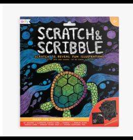 Ooly ooly scratch + scribble papers - ocean life