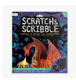 Ooly ooly scratch + scribble papers - fantastic dragons
