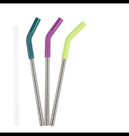 Klean Kanteen klean kanteen 10mm steel straw set multi-colored / brushed stainless 3pk