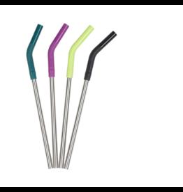 Klean Kanteen klean kanteen 8mm steel straw set multi-colored / brushed stainless 4pk