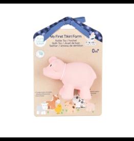 Tikiri tikiri bonikka farm collection my first farm rattle + bath toys - pig