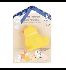 Tikiri tikiri bonikka farm collection my first farm rattle + bath toys - chick